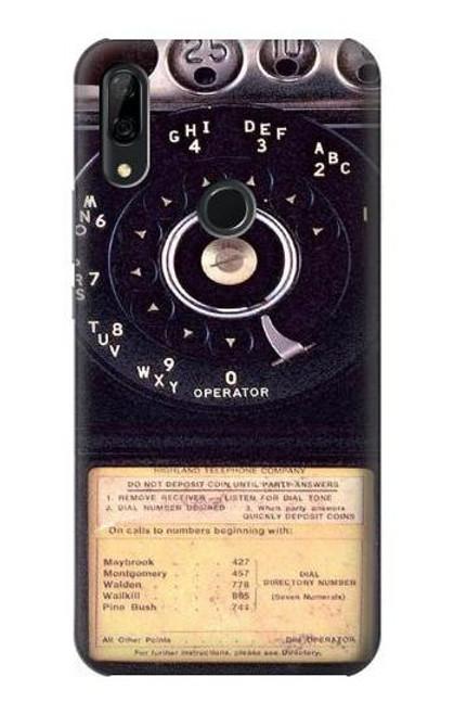 S0086 Payphone Vintage Etui Coque Housse pour Huawei P Smart Z, Y9 Prime 2019