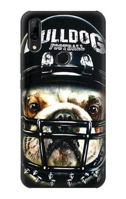 S0098 Bulldog American Football Etui Coque Housse pour Huawei P Smart Z, Y9 Prime 2019