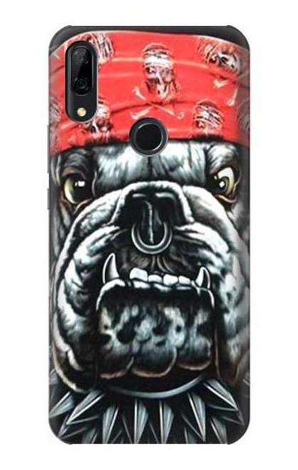 S0100 Bulldog American Football Etui Coque Housse pour Huawei P Smart Z, Y9 Prime 2019