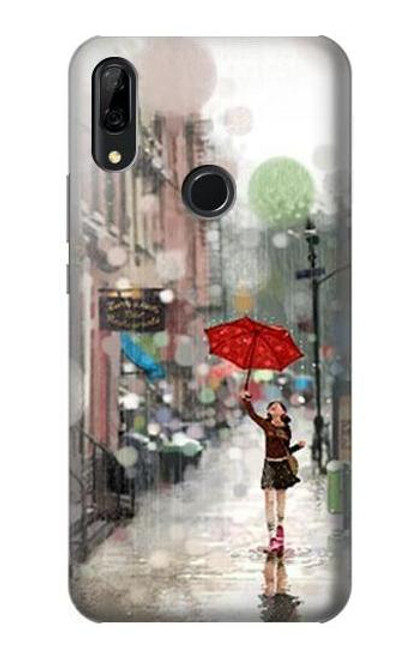 S0108 Girl in The Rain Etui Coque Housse pour Huawei P Smart Z, Y9 Prime 2019