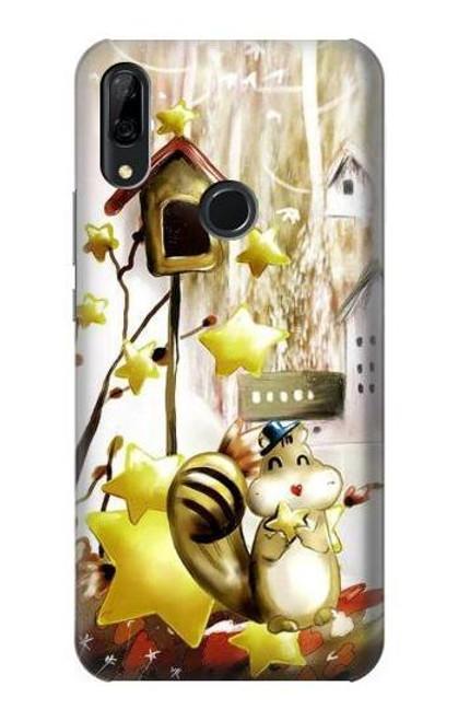 S0109 Cute Squirrel Cartoon Etui Coque Housse pour Huawei P Smart Z, Y9 Prime 2019
