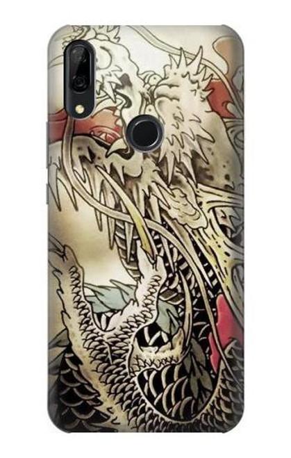 S0122 Yakuza Tattoo Etui Coque Housse pour Huawei P Smart Z, Y9 Prime 2019