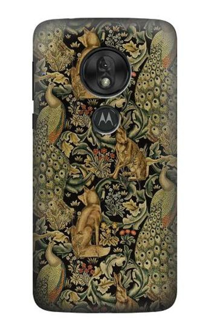 S3661 William Morris Forest Velvet Etui Coque Housse pour Motorola Moto G7 Play