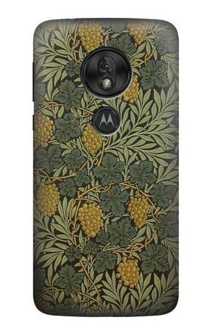 S3662 William Morris Vine Pattern Etui Coque Housse pour Motorola Moto G7 Play