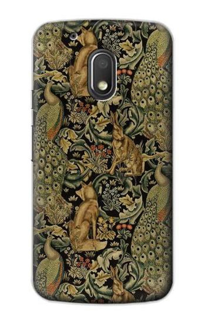 S3661 William Morris Forest Velvet Etui Coque Housse pour Motorola Moto G4 Play