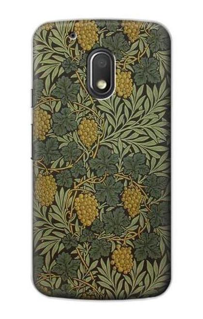 S3662 William Morris Vine Pattern Etui Coque Housse pour Motorola Moto G4 Play
