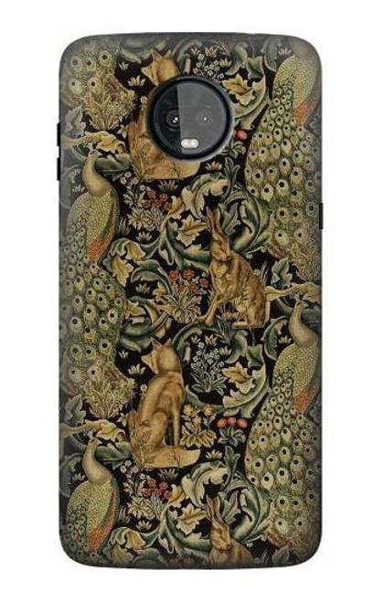 S3661 William Morris Forest Velvet Etui Coque Housse pour Motorola Moto Z3, Z3 Play
