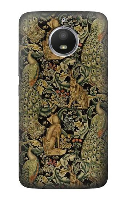 S3661 William Morris Forest Velvet Etui Coque Housse pour Motorola Moto E4 Plus