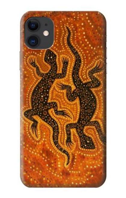S2901 Lizard Aboriginal Art Etui Coque Housse pour iPhone 11