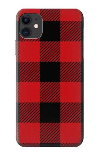 S2931 Red Buffalo Check Pattern Etui Coque Housse pour iPhone 11