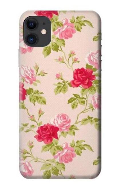 S3037 Pretty Rose Cottage Flora Etui Coque Housse pour iPhone 11