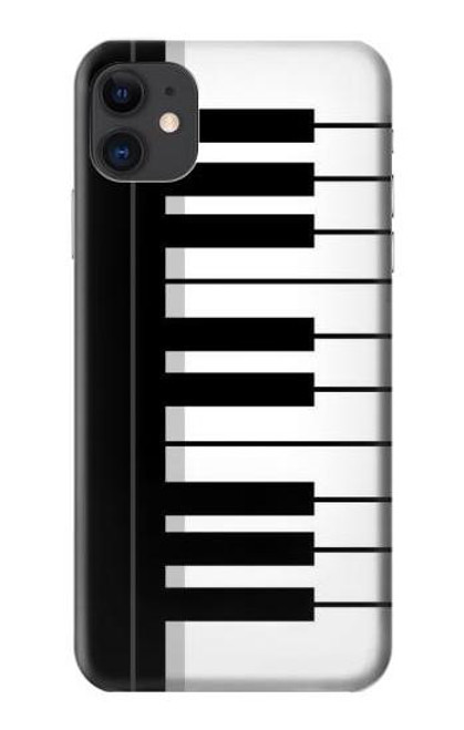 S3078 Black and White Piano Keyboard Etui Coque Housse pour iPhone 11