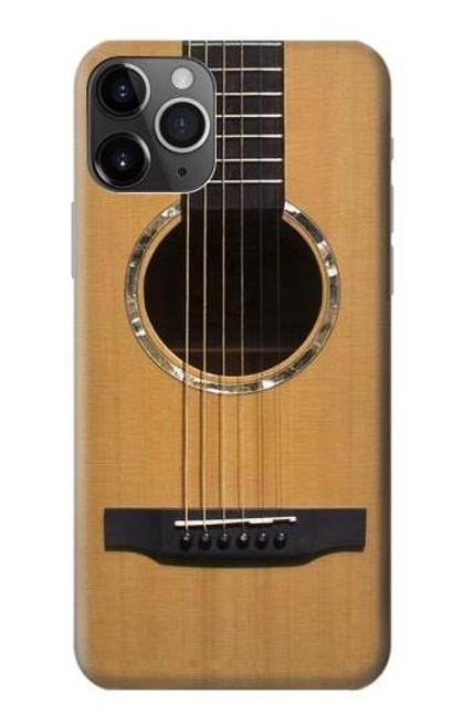 S0057 Acoustic Guitar Etui Coque Housse pour iPhone 11 Pro