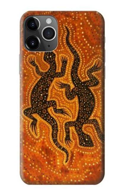 S2901 Lizard Aboriginal Art Etui Coque Housse pour iPhone 11 Pro