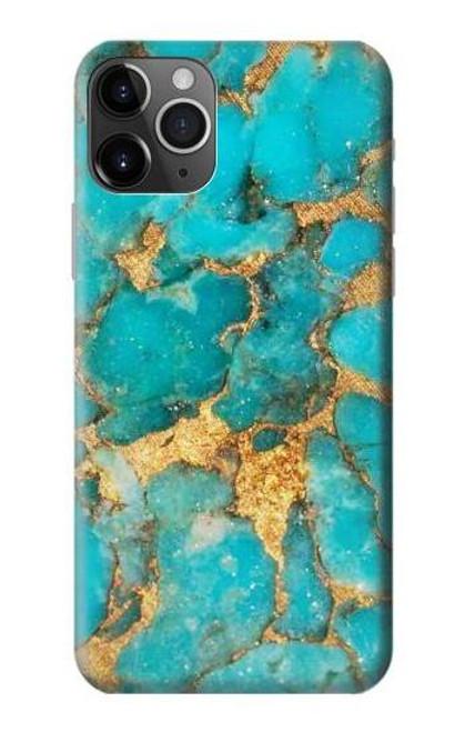 S2906 Aqua Turquoise Stone Etui Coque Housse pour iPhone 11 Pro
