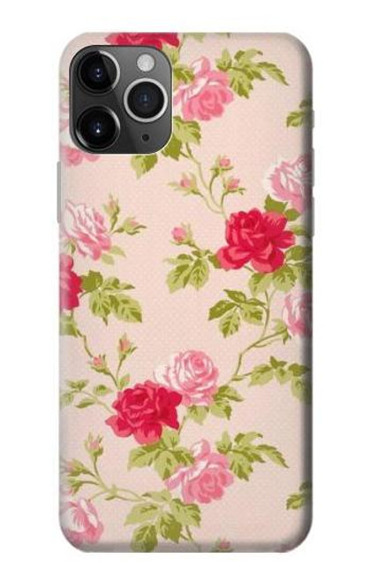 S3037 Pretty Rose Cottage Flora Etui Coque Housse pour iPhone 11 Pro
