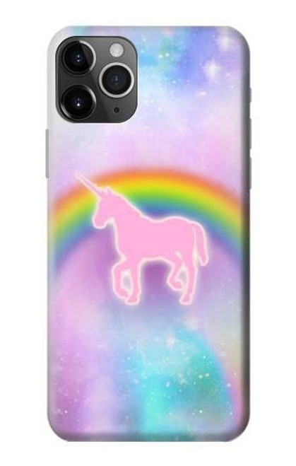 S3070 Rainbow Unicorn Pastel Sky Etui Coque Housse pour iPhone 11 Pro