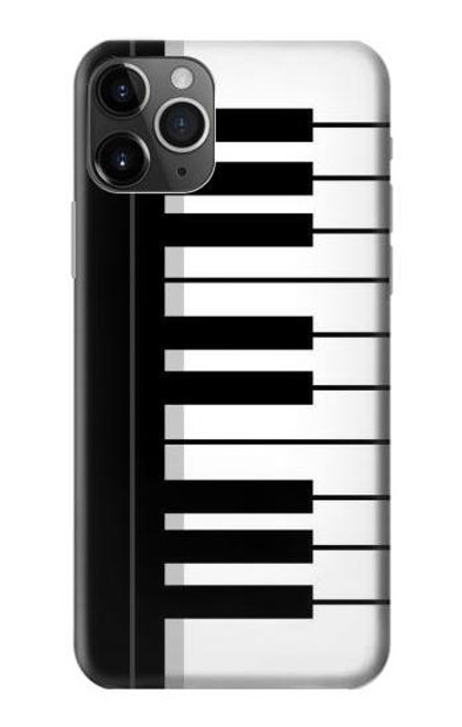 S3078 Black and White Piano Keyboard Etui Coque Housse pour iPhone 11 Pro