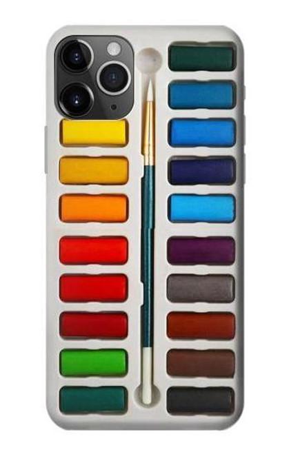 S3243 Watercolor Paint Set Etui Coque Housse pour iPhone 11 Pro