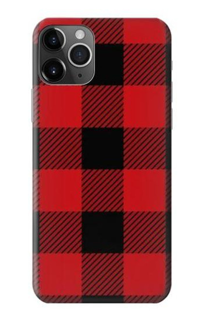 S2931 Red Buffalo Check Pattern Etui Coque Housse pour iPhone 11 Pro Max