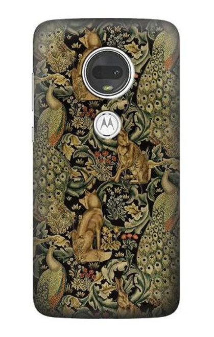 S3661 William Morris Forest Velvet Etui Coque Housse pour Motorola Moto G7, Moto G7 Plus