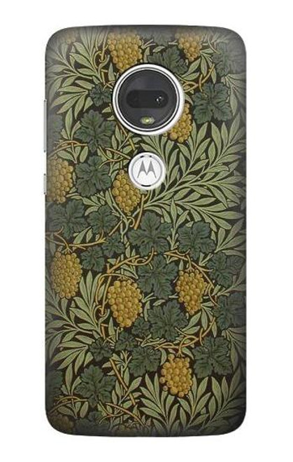 S3662 William Morris Vine Pattern Etui Coque Housse pour Motorola Moto G7, Moto G7 Plus