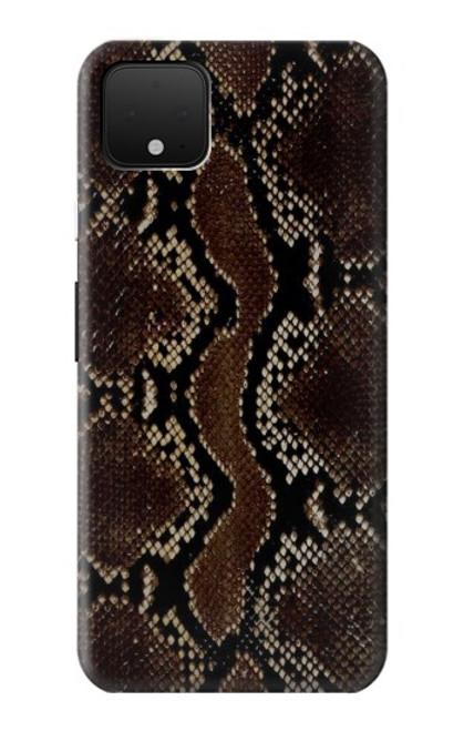 S0553 serpent Peau Etui Coque Housse pour Google Pixel 4