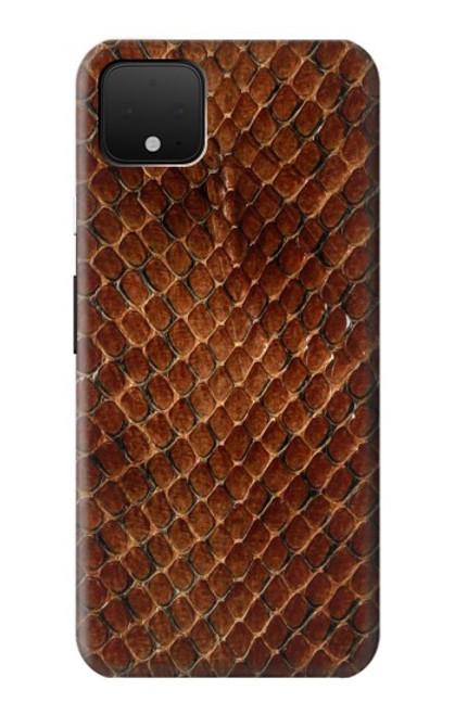 S0555 Snake Skin Etui Coque Housse pour Google Pixel 4