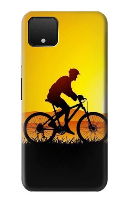 S2385 Vélo Vélo Coucher de soleil Etui Coque Housse pour Google Pixel 4 XL