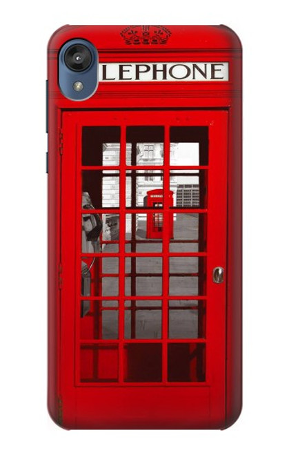 S0058 British Red Telephone Box Etui Coque Housse pour Motorola Moto E6, Moto E (6th Gen)
