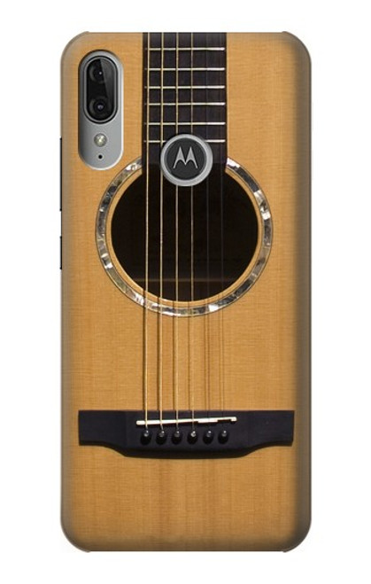 S0057 Acoustic Guitar Etui Coque Housse pour Motorola Moto E6 Plus, Moto E6s