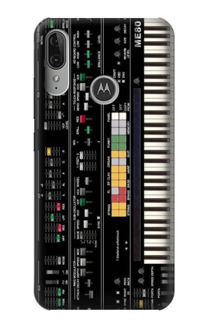 S0061 Synthesizer Etui Coque Housse pour Motorola Moto E6 Plus, Moto E6s