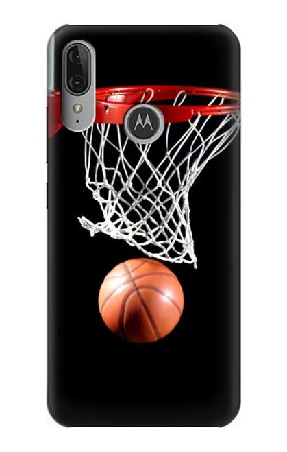S0066 Basketball Etui Coque Housse pour Motorola Moto E6 Plus, Moto E6s