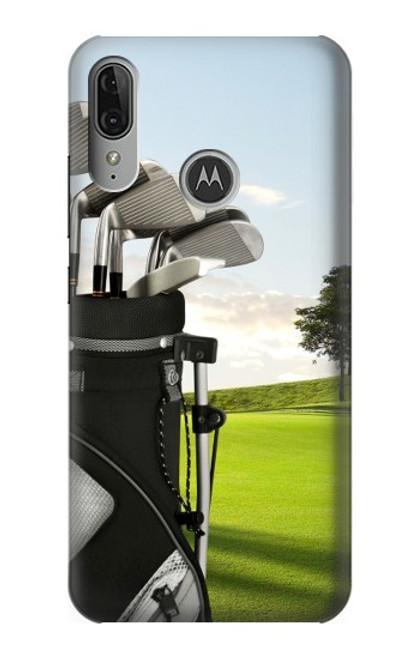 S0067 Golf Etui Coque Housse pour Motorola Moto E6 Plus, Moto E6s