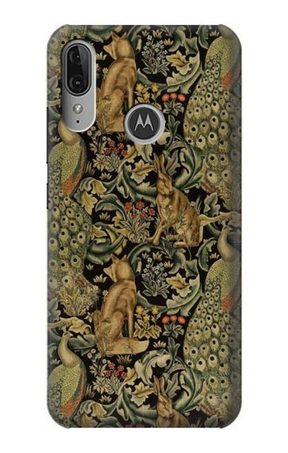 S3661 William Morris Forest Velvet Etui Coque Housse pour Motorola Moto E6 Plus, Moto E6s