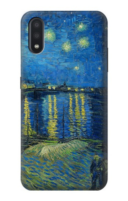 S3336 Van Gogh Nuit étoilée sur le Rhône Etui Coque Housse pour Samsung Galaxy A01
