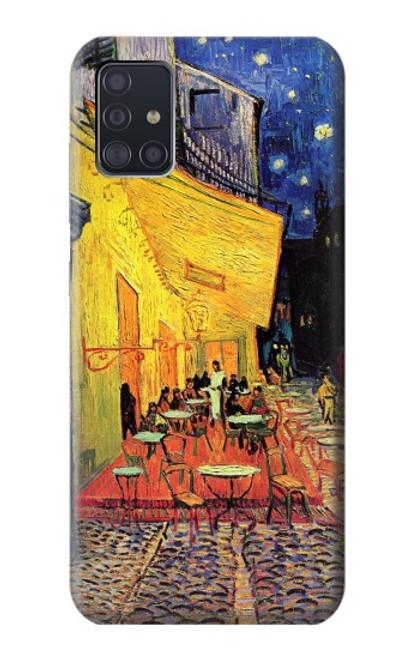 S0929 Van Gogh Café Terrasse Etui Coque Housse pour Samsung Galaxy A51