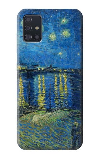 S3336 Van Gogh Nuit étoilée sur le Rhône Etui Coque Housse pour Samsung Galaxy A51