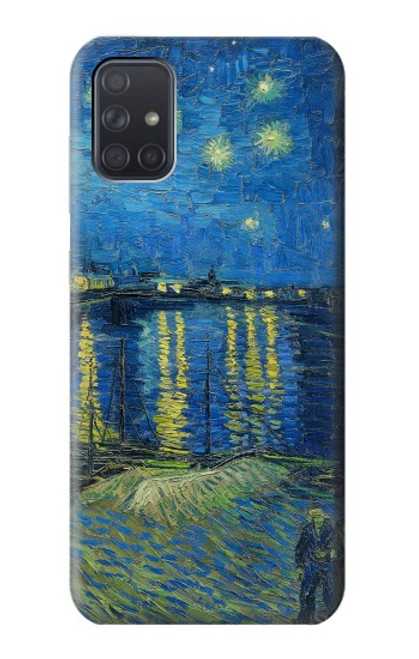 S3336 Van Gogh Nuit étoilée sur le Rhône Etui Coque Housse pour Samsung Galaxy A71