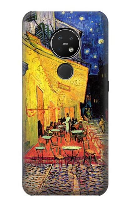S0929 Van Gogh Café Terrasse Etui Coque Housse pour Nokia 7.2