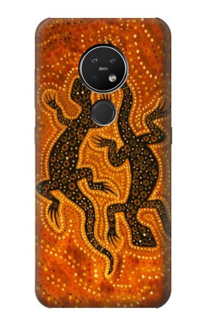 S2901 Lezard Art autochtone Etui Coque Housse pour Nokia 7.2