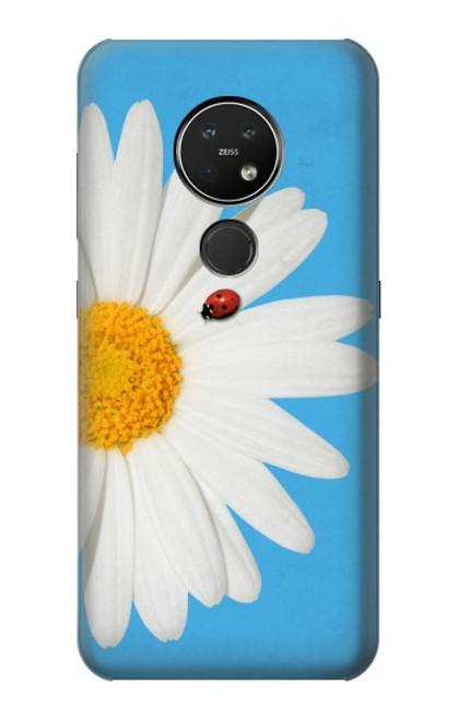 S3043 Coccinelle Daisy millésimé Etui Coque Housse pour Nokia 7.2
