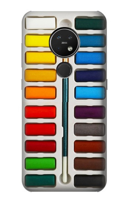 S3243 Ensemble de peinture aquarelle Etui Coque Housse pour Nokia 7.2