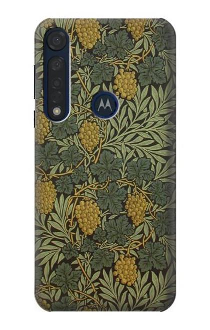 S3662 William Morris Vine Pattern Etui Coque Housse pour Motorola Moto G8 Plus