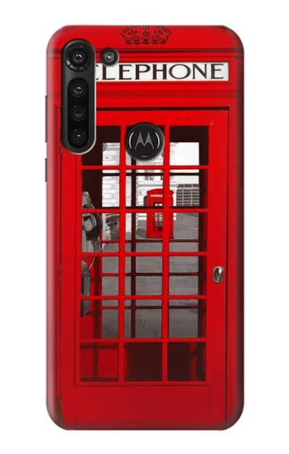S0058 Cabine téléphonique Etui Coque Housse pour Motorola Moto G8 Power