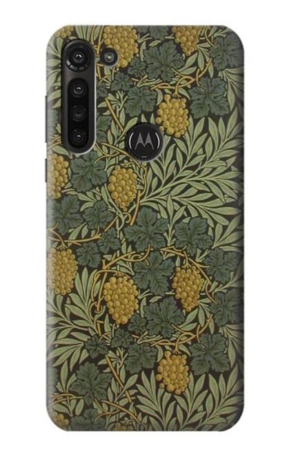 S3662 William Morris Vine Pattern Etui Coque Housse pour Motorola Moto G8 Power