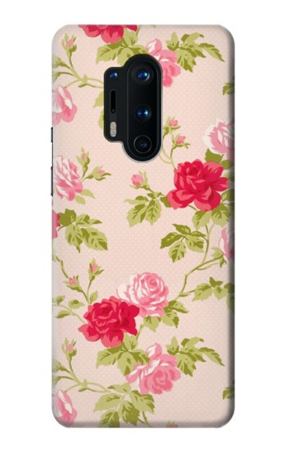 S3037 Jolie Flora Rose Cottage Etui Coque Housse pour OnePlus 8 Pro
