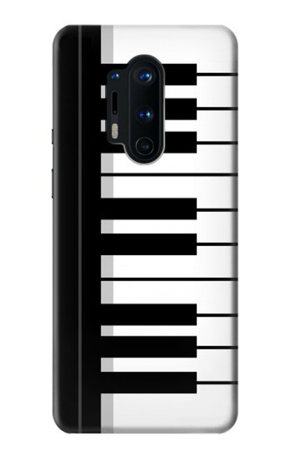 S3078 Noir et blanc Clavier de piano Etui Coque Housse pour OnePlus 8 Pro