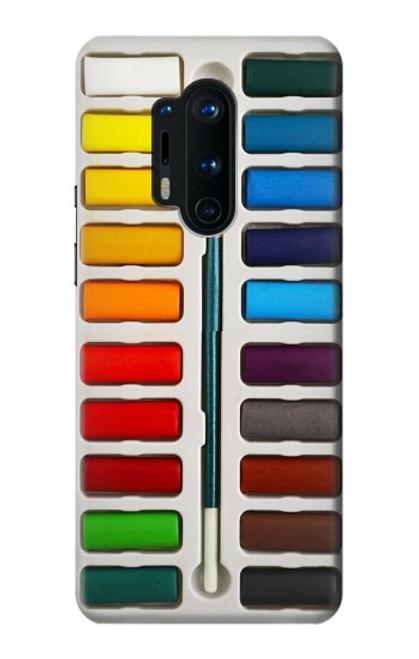S3243 Ensemble de peinture aquarelle Etui Coque Housse pour OnePlus 8 Pro