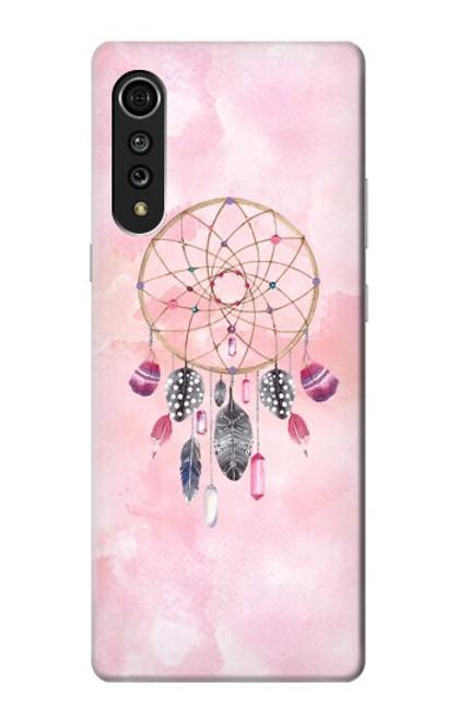 S3094 Peinture Dreamcatcher Aquarelle Etui Coque Housse pour LG Velvet